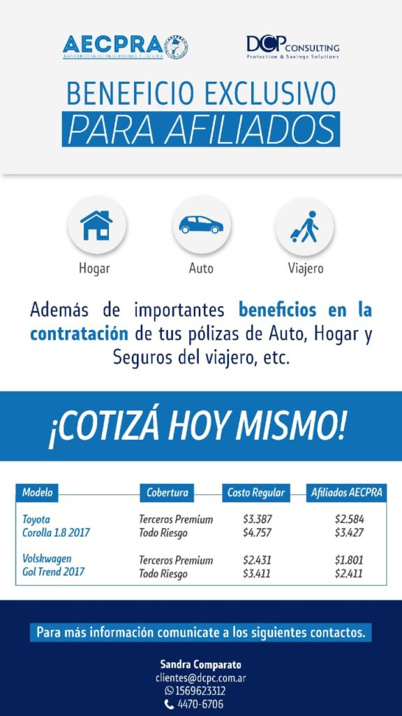 SEGUROS DCP Consulting – BENEFICIO EXCLUSIVO AECPRA